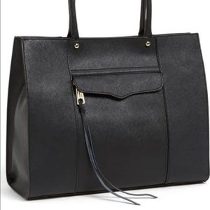 Rebecca Minkoff genuine leather navy tote